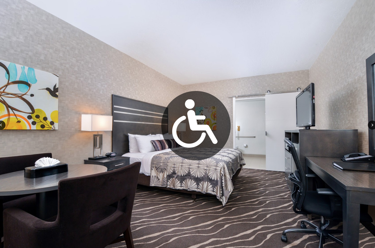 King Room Mobility Accessible Park Place Inn Mini Suites
